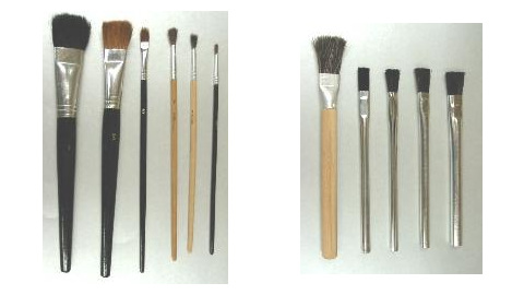 Paint and Acid Application Brushes
