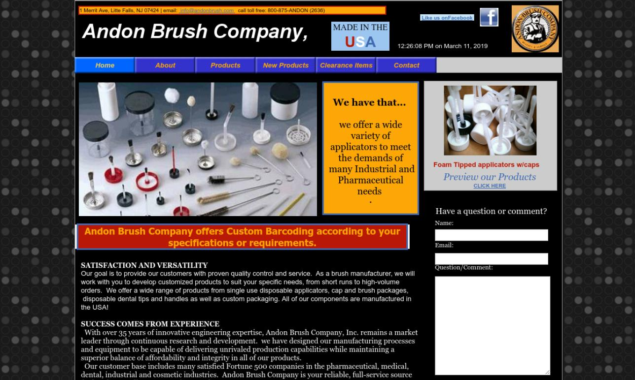 Andon Brush Company, Inc.