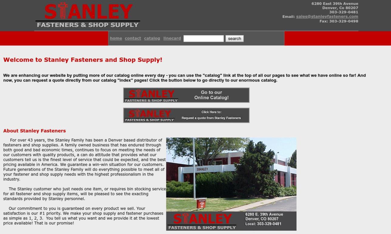 Stanley Fasteners & Supply Shop